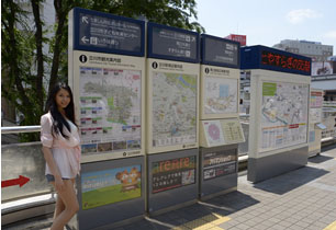 立川駅前防災マップ